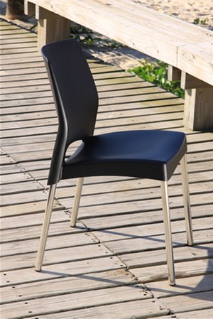 Plastic - A chair with a polypropylene seat