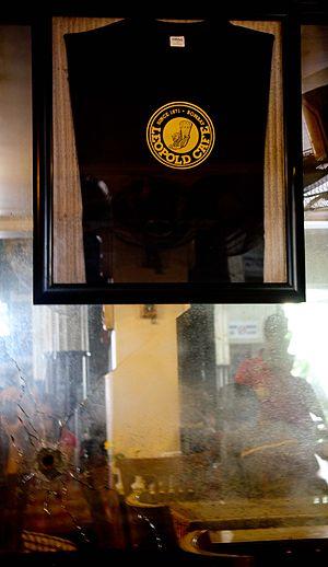 2008 Mumbai attacks - Bullet marks left at Leopold Cafe