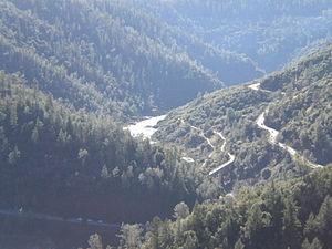 California State Route 49 - State Route 49 crossing the American River North/Middle Fork, as seen from Foresthill Bridge (the SR-49 bridge is not visible)