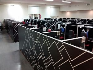 Business process outsourcing in the Philippines - Call center operations floor