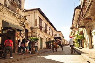 Vigan Component City in Ilocos Region, Philippines