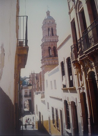 Zacatecas City - Old downtown bystreet in the city of Zacatecas