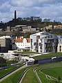 Calton Hill overshadows the Scottish Parliament - geograph.org.uk - 837179.jpg