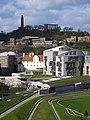 Calton Hill overshadows the Scottish Parliament - geograph.org.uk - 837179.jpg