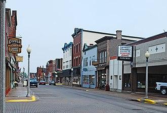 Calumet, Michigan - Looking north along 5th Street