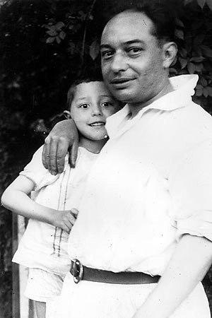 Camilo Díaz Baliño con Isaac Díaz Pardo en 1925