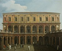 Canaletto (Venice 1697-Venice 1768) - Venice, Caprice View of the Monastery of the Lateran Canons. - RCIN 406991 - Royal Collection.jpg