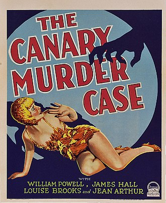 Philo Vance - Poster for The Canary Murder Case (1929), featuring Louise Brooks