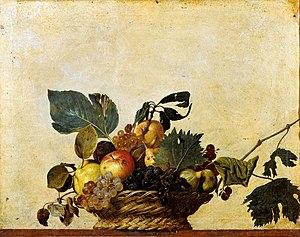 Caravaggio - Basket of Fruit, c. 1595–1596, oil on canvas, Pinacoteca Ambrosiana, Milan