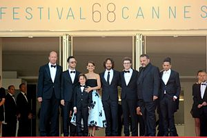 A Tale of Love and Darkness (film) - Director and cast at the 2015 Cannes Film Festival.