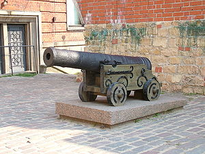 Cannon in Riga, Latvia.