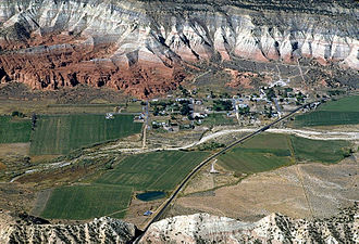 Cannonville, Utah - Aerial view of Cannonville, 2004