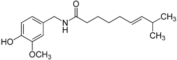 Molekülstruktur von Capsaicin