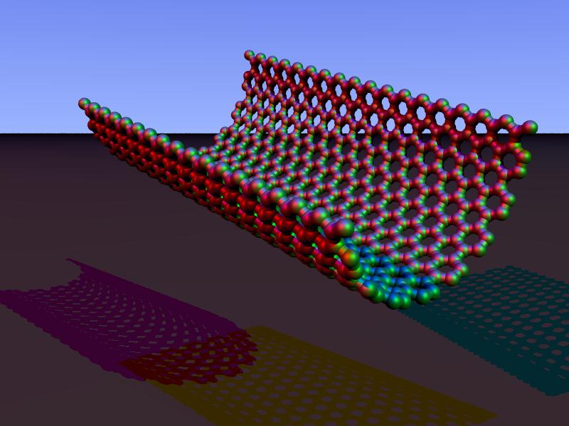 Carbon nanorim armchair povray