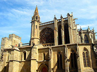 Basilica of Saints Nazarius and Celsus church located in Aude, in France