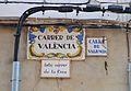 Carrer de València, antic carrer de la Creu d'Algar de Palància, plaques.JPG