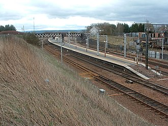 Carstairs railway station - North end (Glasgow end) of the station
