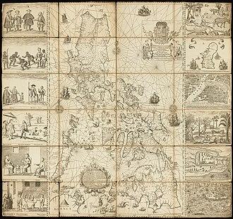 Carta Hydrographica y Chorographica de las Islas Filipinas - Image: Carta Hydrographica y Chorographica de la Yslas Filipinas MANILA, 1734