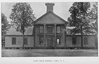 Cary High School - Cary High School in 1896-1898