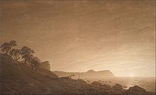 Caspar David Friedrich: Blick auf Arkona mit aufgehendem Mond, 1805 (Quelle: Wikimedia)