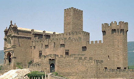 The castle of the Xavier family was later acquired by the Society of Jesus. Castillo javier.jpg