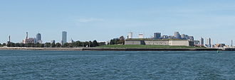 Fort Independence (Massachusetts) - Castle Island and Fort Independence commanding the approach to modern Boston Harbor