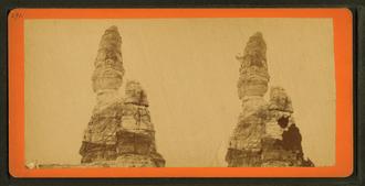 Castle Rock, Minnesota - Stereoscopic image of Castle Rock by Benjamin Franklin Upton