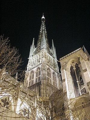 Architecture of Normandy - Rouen Cathedral, an example of Gothic architecture in Normandy
