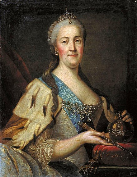 The Empress Catherine at around the same time Catherine II by Sablukov.jpg