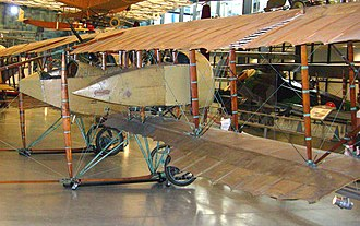 Caudron G.4 - Side view of Caudron G.4 in Steven F. Udvar-Hazy Center.