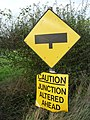 Caution Junction Altered Ahead sign.jpg