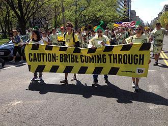 Bribery - Demonstration in Washington, DC