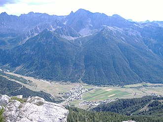 Ceillac - A view of Ceillac from the nearby hillside