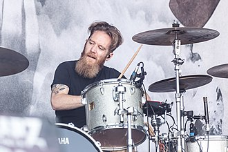 Cellar Darling - Drummer Merlin Sutter performing at Rockharz Open Air 2018
