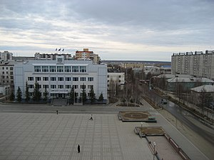 Mirny, Sakha Republic - Central square in Mirny