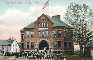 Orange, Massachusetts - Image: Central School, Orange, MA