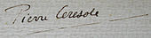 Signature de Pierre Ceresole