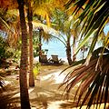 Chaise lounge beach chairs at Cayo Espanto Private Island.JPG
