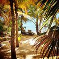 Chaise lounge beach chairs at Cayo Espanto Private Island.JPG