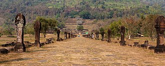 Vat Phou - Causeway, looking towards the sanctuary