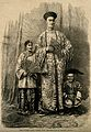 Chang Yu-sing the Chinese giant, with his wife, King-Foo and Wellcome V0007380.jpg