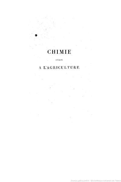 File:Chaptal - Chimie appliquée à l'agriculture, Tome 1.djvu