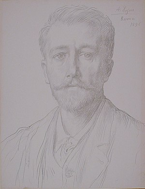 Charles Holroyd - Charles Holroyd in 1896. Drawing by Alphonse Legros.