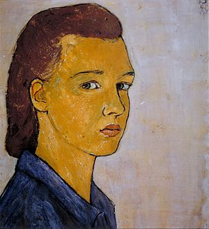A 1940 self-portrait of the German-Jewish artist Charlotte Salomon