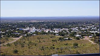 Charters Towers - Aerial view of the town