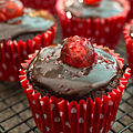 Cherry chocolate cupcakes