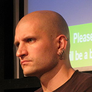 China Miéville, English fantasy fiction writer.