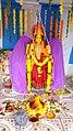 Chinalingala Dussera 2016 Sri Bala Tripurasundhari devi Alamkaram by Girikonda.jpg