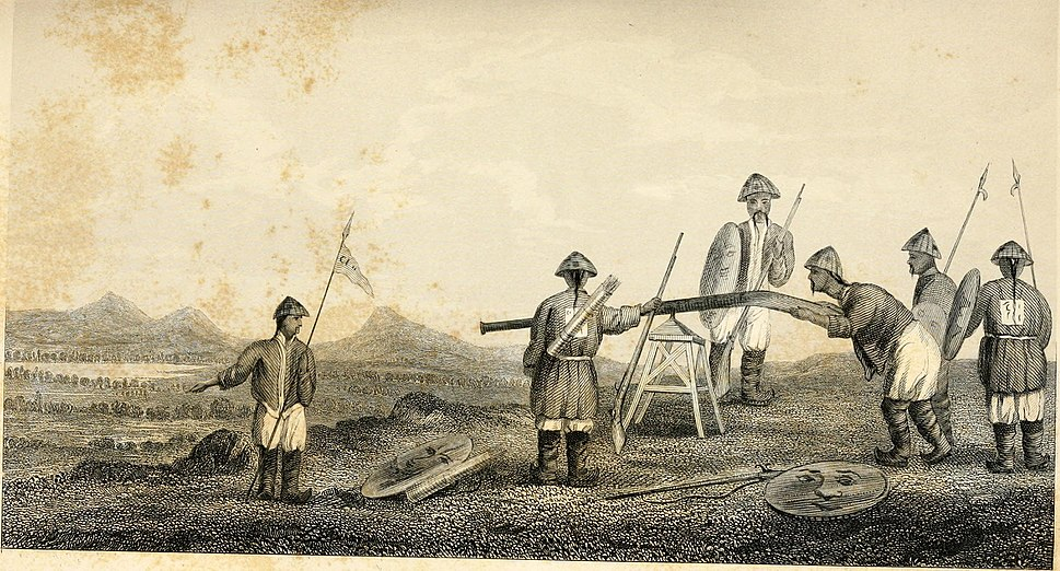 Chinese soldiers with gingals