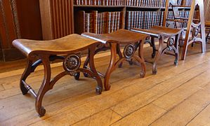 Chippendale benches in Christ Church Library, Oxford-17165681786.jpg